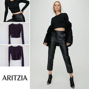 Aritzia - Wilfred Free Long Sleeve Crop Top